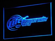 a017 Miller Lite Beer Bar Guitar LED Neon Sign with On/Off Switch 7 Colors 4 Sizes to choose Plastic Crafts