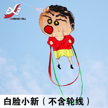 3D single line kites manufacturers soft cartoon kite flying child cartoon windsock kites for children kids games outdoor animals(China)