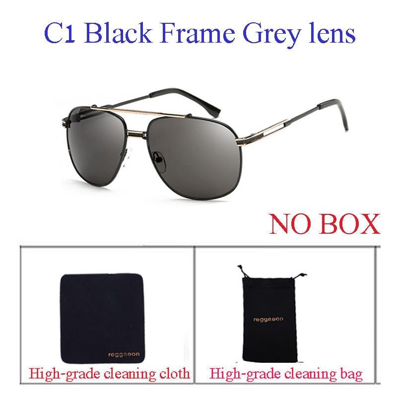 Reggaeon New Color Lenses retro mirror lady sunglasses square metal frame luxury men's designer top sunglasses UV400