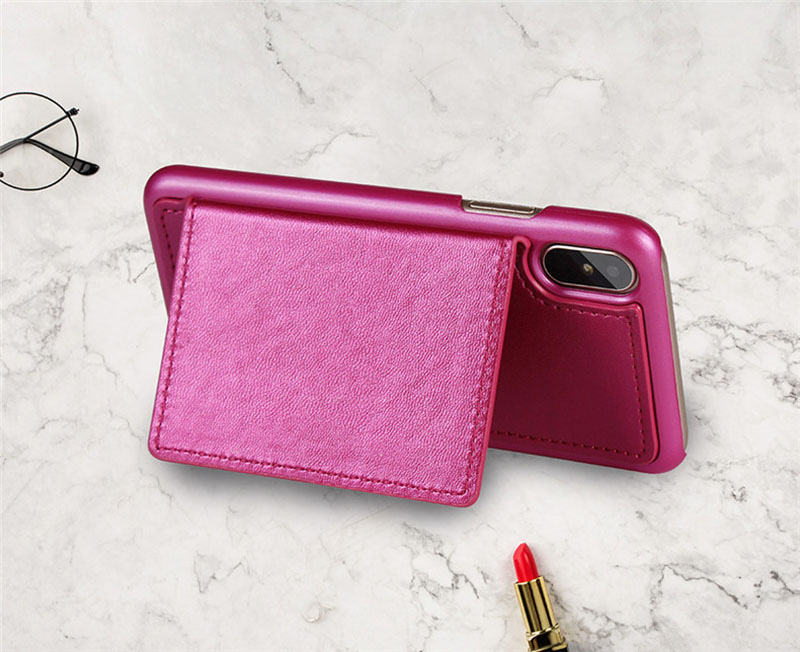 4 in 1 Leather Wallet Bag Case for iPhone X 6 6s 7 8 Plus Detachable Phone Cover Card Slot Girl Women Shoulder Bag Handbag Pouch (32)