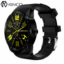 KINCO 3G MT6572A 512MB+4GB GPS Smart Watch Phone 1.3 inch 240*240 IPS Full View Heart Rate Monitor Smart Watch for IOS/Android(China)
