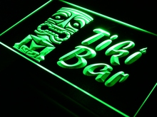 i298 Tiki Bar Mask Pub Club LED Neon Light Sign On/Off Swtich 7 Colors 4 Sizes
