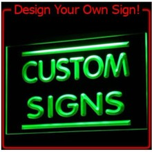 On/Off switch 7 Colors 4 Sizes Custom Neon Signs Design Your Own LED Neon Signs LED Signs Edge Lit Bar open Dropshipping DHL