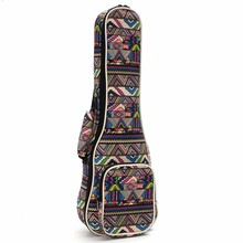 "21"" 23"" 26'' Canvas Ukulele Guitar Bag Backpack Guitar Case Box Cover with Double Shoulder Strap For Musical Instruments Lover"
