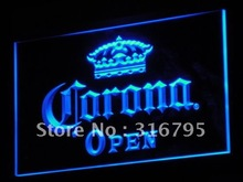 a114 OPEN Corona Beer Pub Bar Club NR LED Neon Sign with On/Off Switch 7 Colors 4 Sizes to choose