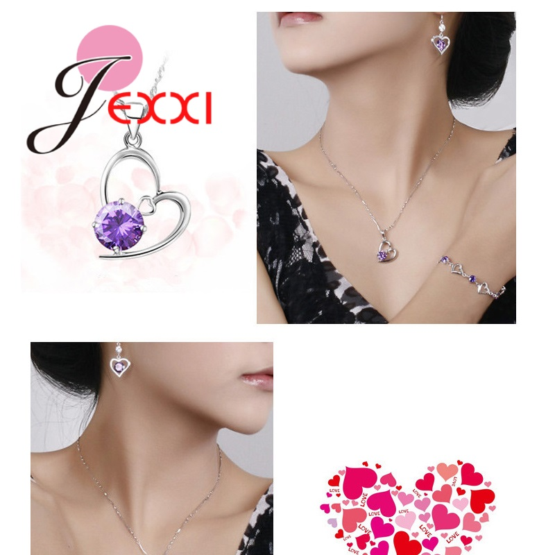 JEXXI-Trendy-Heart-Shaped-CZ-Crystal-Necklace-Pendant-Chain-Earrings-for-Women-Wedding-925-Sterling-Silver (5)