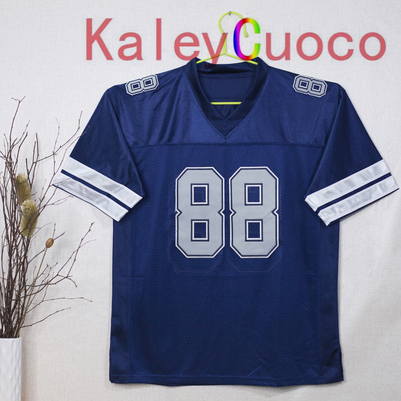 Retro star #88 Michael Irvin Embroidered Throwback Football Jersey M&N 48 50 52 54 56 Jerseys(China (Mainland))