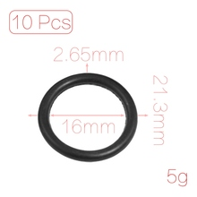 Uxcell 10 Pcs 2.65Mm Diameter Black Silicone O Rings Oil Seals Gaskets Id . | 16mm | 17mm | 18mm | 19mm | 20mm | 21.2mm | 22.4mm