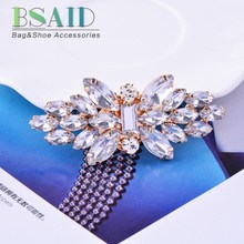 BSAID 1 Piece Rhinestone Shoes Clip Decoration,Wedding Women Shoes Crystal Decorative Shoe Clips Accessories,Fashion Ornament(China)