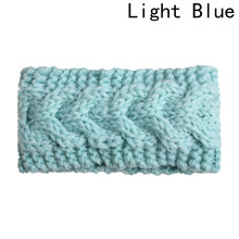 New Fashion Style Sweet Crochet Knitted Bow Turban Headwrap Hair Band Winter Ear Warmer Headband(China)