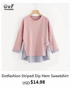 Dotfashion- Striped Dip Hem