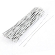 UXCELL 130Pcs 150Mm X 2Mm White Plastic Coated Metal Cord Data Cable Binding Organizer Bags Packaging Wire Twist Ties(China)