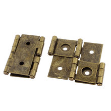 UXCELL 46Mmx54mm Retro Style Double Acting Folding Screen Hinge Bronze Tone 2Pcs(China)