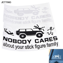 JETTING 1 Pcs Picture Car Motorcycles Decor Sticker Nobody Cares about Your Stick Figure Family Funny Cartoon Stick Hot Selling