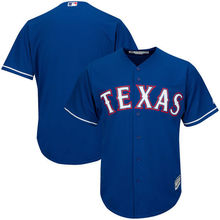MLB Men's Texas Rangers Baseball Royal Alternate Cool Base Jersey(China)