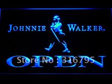 042 Johnnie Walker OPEN Whiskey Bar LED Neon Sign with On/Off Switch 7 Colors 4 Sizes to choose