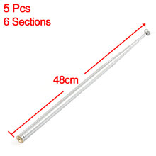 UXCELL Product Name 5 Pcs 2.5Mm Female Threaded 6 Sections 48Cm Long Telescopic Antenna antenna(China)