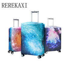 REREKAXI 3D sky Elastic Luggage Case Cover 18 to 32 inch Trolley Handbag Elastic Dust Cover Travel Accessories(China)