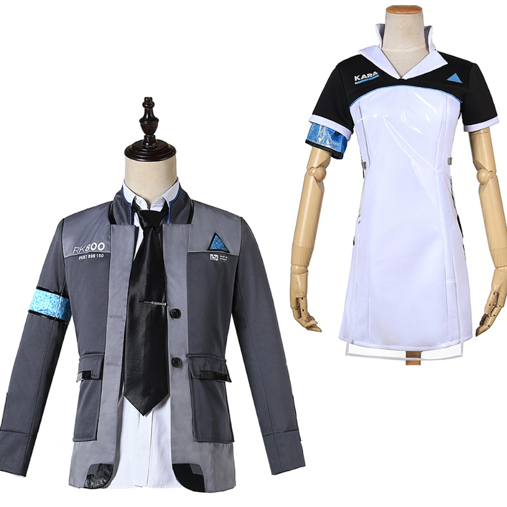 Become Human Kara Outfit Dress Pant Uniform Suit Set Cosplay Costume Detroit