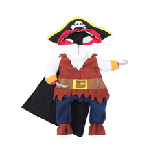 Funny Pet Dog Cat Pirate Costume Suit Halloween Party Puppy Dressing Up Clothes(China)