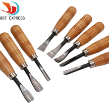 8Pcs/set QST EXPRESS Dry hand Wood Carving Tools Chip Detail Chisel set Knives tool(China)