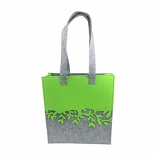FELT contrast color shopping bag for women fashion style designed tote bag for shopping(China)