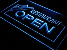 i141 OPEN Restaurant Display Bar Pub LED Neon Light Signs On/Off Switch 7 Colors 4 Sizes