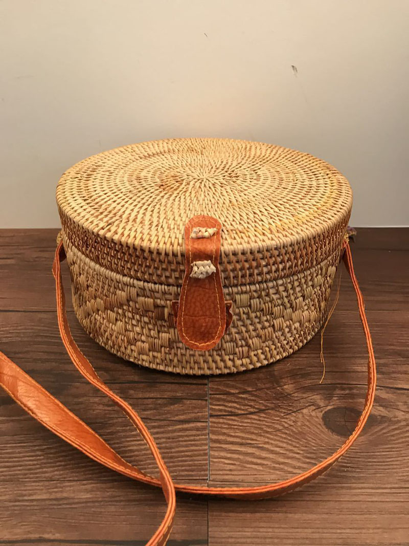 Women Straw Bags Bohemian Bali Rattan Female Beach Shoulder Bag Vintage Small Circle Summer Handmade Crossboday Bag SS3003 (2)