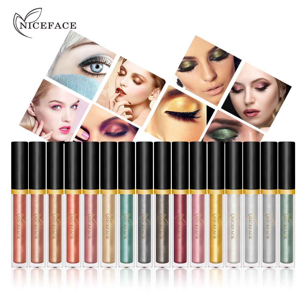 NICEFACE Pearl Eyeshadow liquid Glitters Shiny Silkworms liquid Diamond Cosmetic For Eyes Makeup(China)