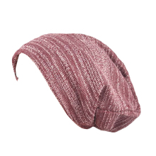 Men Women All-match Knitted Beanie Baggy Hat Casual Solid Color Hip-Hop Cap(China)