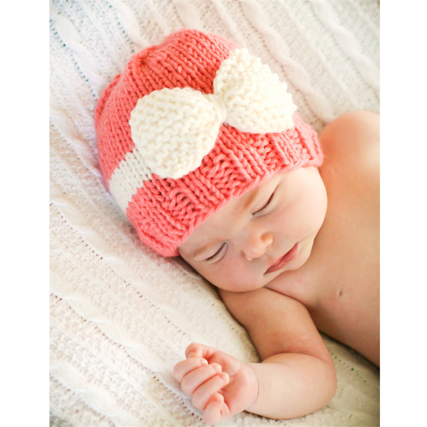New Cute Newborn Baby Knitting Hat Bow Knot Cap Infant Girl Winter Warm Beanie-in Hats & Caps from Mother & Kids on Aliexpress.com Alibaba Group