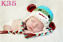 Hot selling! Baby Crochet Sock Monkey Hats Beanies Different Designs Available Handmade Photograph