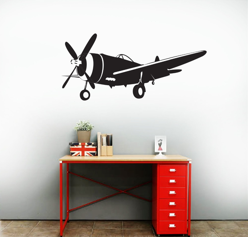 Removable-Airplane-Wall-Decal-plane-Vintage-Sky-Wall-Decal-Modern-Home-Decor-Sticker-Art-Living-Room (2)