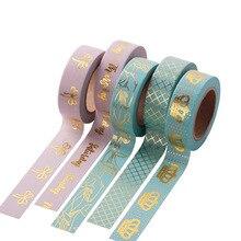 10 Meters Foil Washi Tape Japanese Stationery Kawaii Scrapbooking Tools Masking Tape