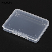 Haodeba 5PCS Plastic Transparent Small Clear Store box With Lid Storage Box Collection Container Case jewelry