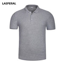 LASPERAL 2017 Summer Slim Fit Polo Shirts Men Solid Polos High Quality Polo Men Couple Short Sleeve Business Men Tee shirts