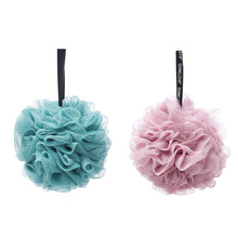 Japanese Style Soft  Mesh Soft Bath Sponge With Rope Body Exfoliating Green Pe Mesh Bath Sponge Ball/flower