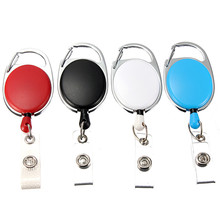 Board Game 1pc Retractable Pull Key Ring ID Badge Name Tag Cord Card Holder Recoil Reel Belt Clip Metal Housing Supplies