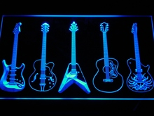 c099 Guitar Weapons Band Room LED Neon Sign with On/Off Switch 7 Colors 4 Sizes to choose