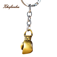 Originality Car Key Chains Charms Man Bag Phone Key Ring Boxing Glove Pendant Jewelry Keychain Gift Chaveiro(China)