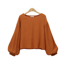 Buy Casual Blouse Plus Size S-5XL Women Long Sleeve Blouse Tops Elegant Puff Sleeve Shirts Loose Female Clothes Shirt Four Color for $9.89 in AliExpress store