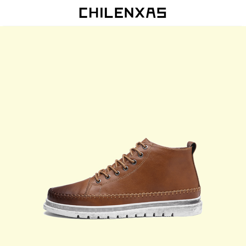 CHILENXAS 2017 New Autumn Winter Oxford Shoes Genuine Leather Casual Men Fashion Comfortable Breathable Height Increasing<br>