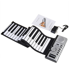 Zebra New Arrival 61 Keys Portable Soft Silicone Electronic Keyboard Piano Roll up Piano For Keyboard Instruments Lover Gift(China)