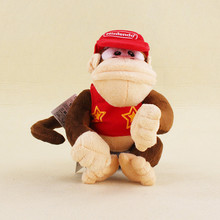 Free Shipping 15CM Approx Free Shipping 1Pcs Donkey Kong Plush Toys Super Mario Diddy Kong Plush Doll Soft Toy(China)