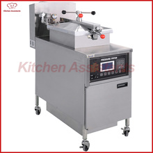 PFG600L gas computer control digital LCD KFC chicken oil pressure fryer Built-in automatic filtration system(China)