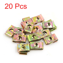 Uxcell 20Pcs Spring Metal Retainer Screw U-Type Clips Rivets Fit Hole . | .mm | 11.5mm | 17mm | 3mm | 5mm | 6mm(China)