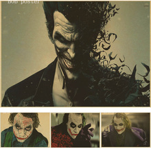 The Dark Knight jack napier poster/ why so serious?/DC Comics/ Kraft brown poster/bar coffee shop decoration painting