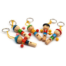 Mini Wooden Cartoon Whistle Musical Instrument Toddler Toys Game Of Children Kids Toys baby toys 1 year infant learning toys(China)