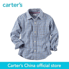 Carter's 1pcs baby children kids Poplin Checkered Button-Front Shirt 243G564,sold by Carter's China official store