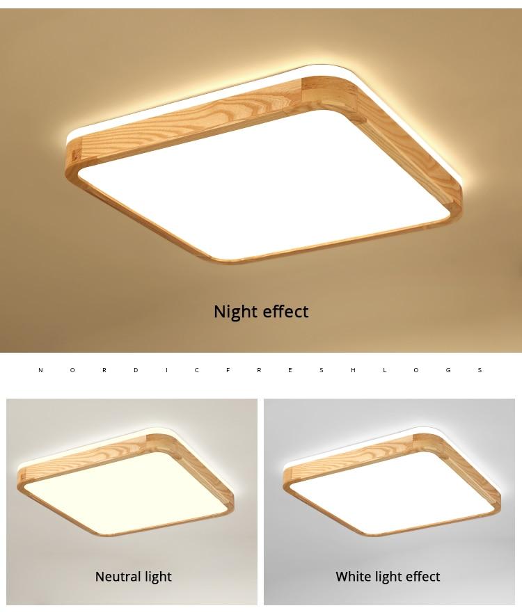 q (11)Ceiling Lights Wood